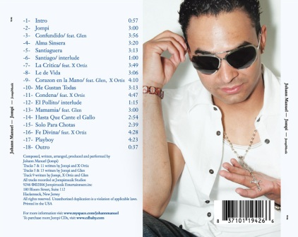 Johann Manuel CD package, 2006