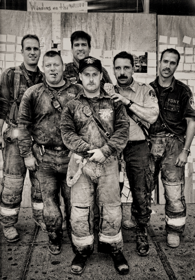 Ash Laden Firefighters