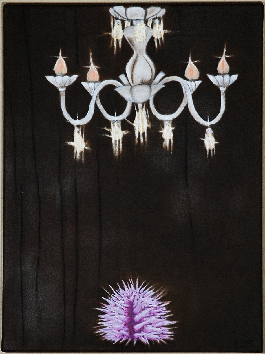 Title Urchin Debut   Medium Oil and Charcoal on Canvas   Size 18 in x 24 in